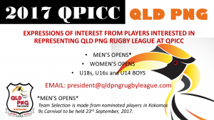 2017 QPICC QLD PNG Rugby League