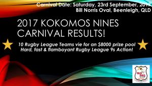 2017 Kokomos 9s Carnival Results