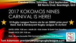 QLD PNG Kokomos Rugby League Nines Carnival