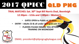 QLD PNG v Nuie Trial Matches